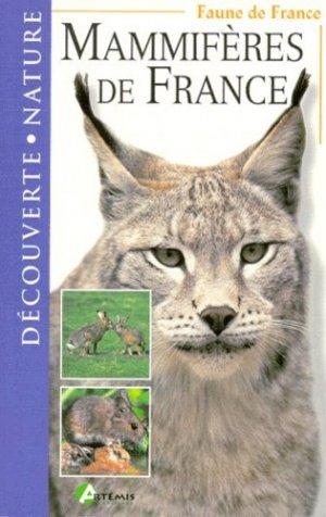 Mammifères de France - artemis - 9782844160249 -