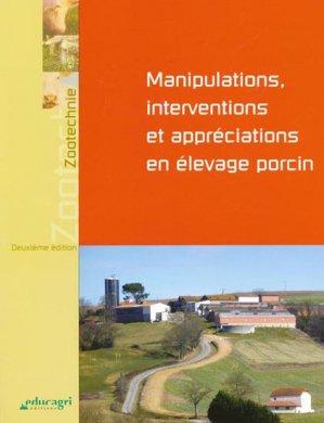Manipulations, interventions et appréciations en élevage porcin - educagri / cnpr - 9782844448873 -