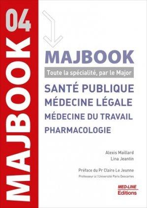 MAJBOOK – Santé publique, médecine légale, médecine du travail et pharmacologie - med-line - 9782846782494 -