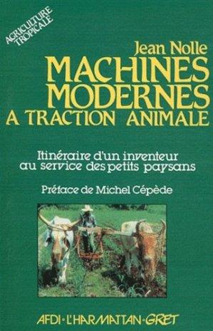 Machines modernes à traction animale - l'harmattan - 9782858026067 -