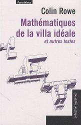 Mathématiques de la villa idéale et autres essais - parentheses - 9782863646601 -
