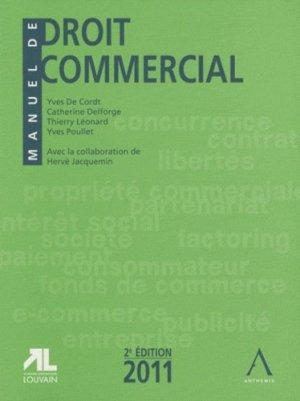 Manuel de droit commercial - Anthemis - 9782874553264 -