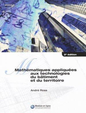 Mathématiques appliquées aux technologies du bâtiment et du territoire - modulo (canada) - 9782896503513 -