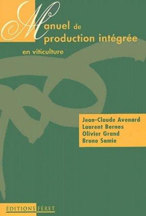 Manuel de production intégrée en viticulture - feret - 9782902416868 -
