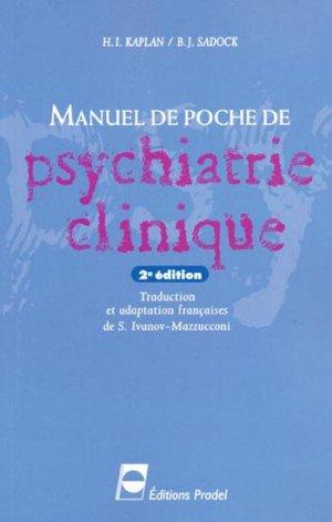 Manuel de poche de psychiatrie clinique - pradel - 9782913996328 -