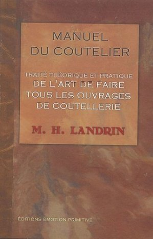 Manuel du coutelier (1835) - emotion primitive - 9782914123792 -