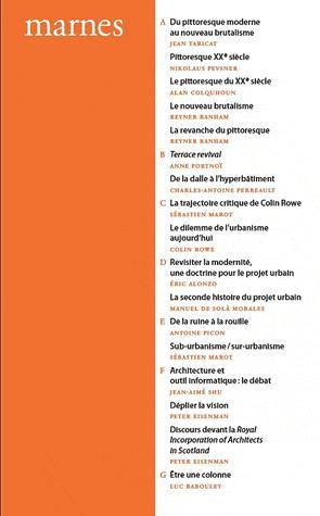 Marnes  1 - de la villette - 9782915456639 -