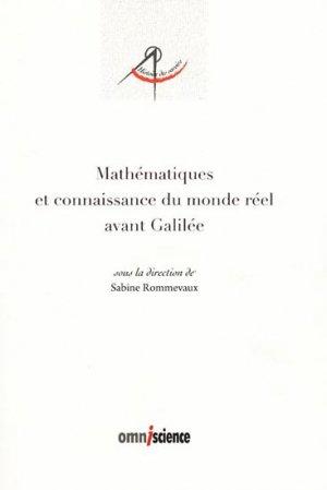 Mathématiques et connaissances du monde réel avant Galilée - omniscience - 9782916097268 -