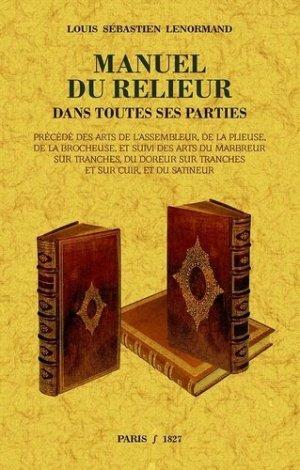 Manuel du relieur - maxtor france - 9791020802071 -