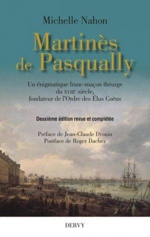 Martinès de Pasqually - Dervy - 9791024202341 -