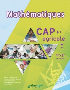 Mathématiques : CAP Agricole 1re/2e année - educagri - 9791027500796 -