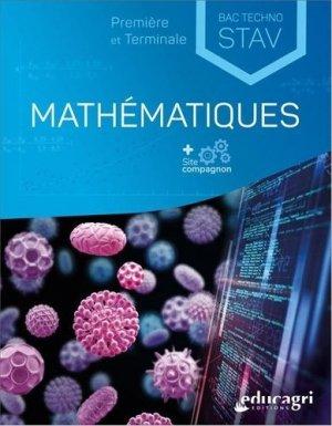 Mathématiques 1re et Tle Bac technologique STAV - Educagri - 9791027503223 -