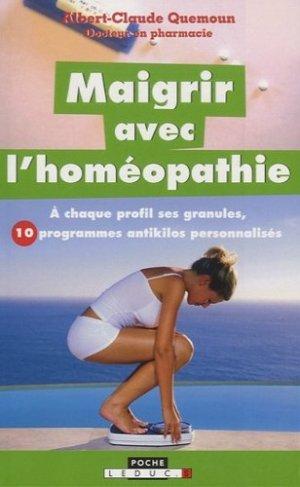 Maigrir avec l'homéopathie - leduc - 9791028502157 -