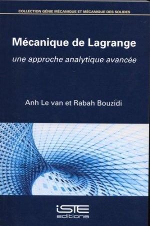 Mécanique de Lagrange - iste - 9781784056148 -