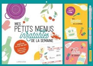 Mes petits menus inratables de la semaine. Edition 2020-2021 - Larousse - 9782035991188 -
