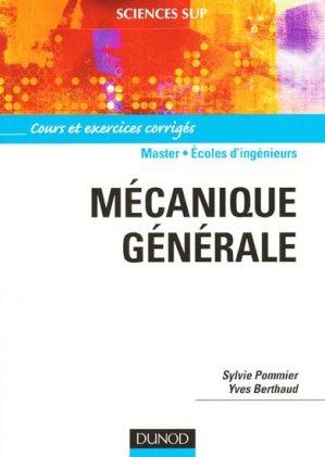 Mécanique générale Master - Écoles d'ingénieurs - dunod - 9782100513567 -
