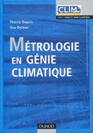 Métrologie en génie climatique - dunod - 9782100517756 -