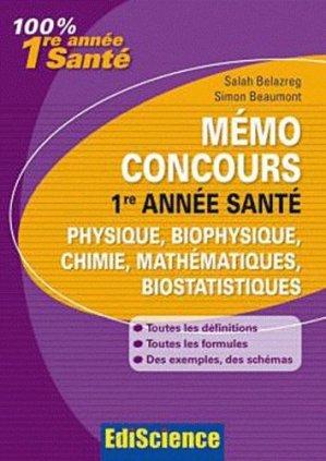Mémo Concours - édiscience - 9782100549290 -