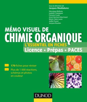 Mémo visuel de chimie organique - dunod - 9782100722204 -