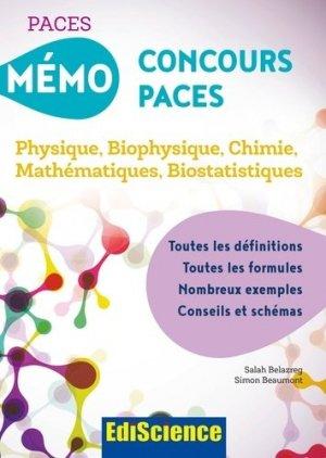 Mémo Concours PACES - édiscience - 9782100748846 -