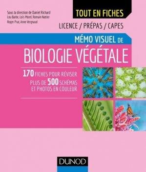 Mémo visuel de biologie végétale - Tome 1 - dunod - 9782100780280 -