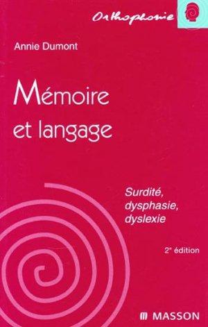 Mémoire et langage - elsevier / masson - 9782294006845 -