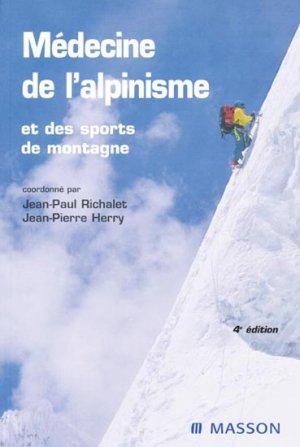 Médecine de l'alpinisme et des sports de montagne - elsevier / masson - 9782294071744