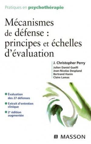 Mécanismes de défense : principes et échelles d'évaluation - elsevier / masson - 9782294704925