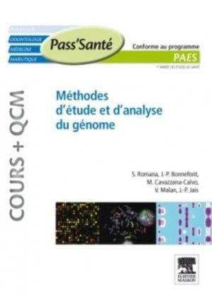 Méthodes d'étude et d'analyse du génome - elsevier / masson - 9782294711688 -