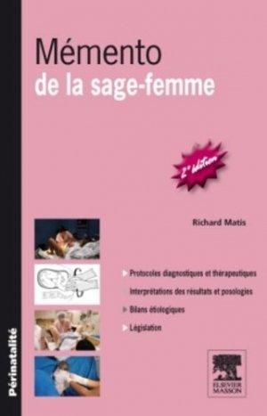 Mémento de la sage-femme - elsevier / masson - 9782294714252 -