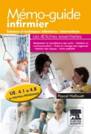 Mémo-guide infirmier UE 4.1 à 4.8 - elsevier / masson - 9782294714597 -