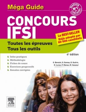 Méga guide Concours IFSI - elsevier / masson - 9782294729881 -