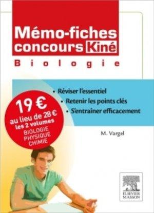Mémo-fiches concours Kiné pack 2 volumes - elsevier / masson - 9782294742484 -