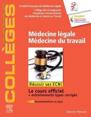 Médecine légale, médecine du travail - elsevier / masson - 9782294764820 -