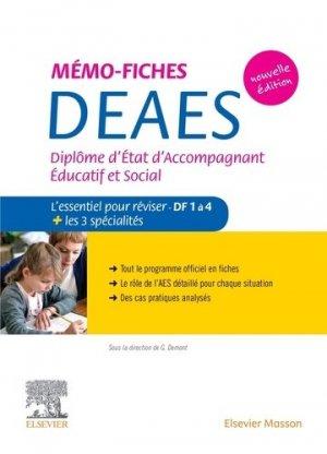 Mémo-fiches DEAES - Diplôme d'Etat d'Accompagnant Educatif et Social - elsevier / masson - 9782294768354 -