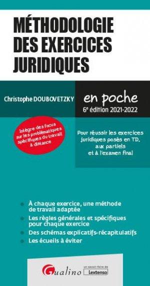 Méthodologie des exercices juridiques - gualino - 9782297134941 -