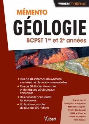 Mémento géologie BCPST 1re et 2e années - vuibert - 9782311405736 -