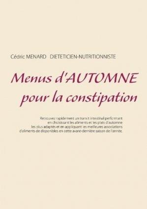 Menus d'automne pour la constipation - Books on Demand Editions - 9782322145911 -