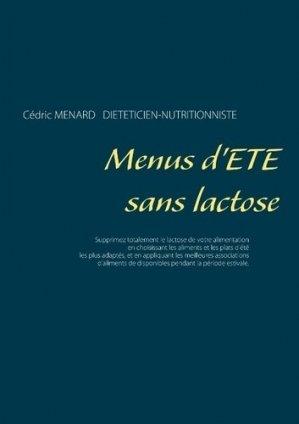 Menus d'été sans lactose - Books on Demand Editions - 9782322204441 -