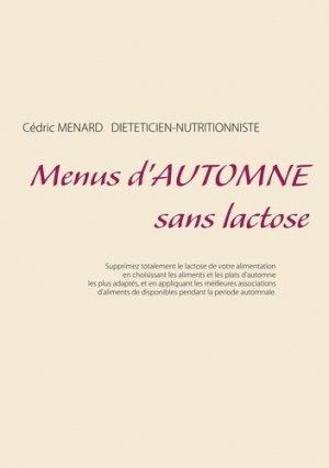 Menus d'automne sans lactose - Books on Demand Editions - 9782322211531 -