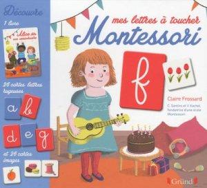 Mes lettres à toucher Montessori - grund - 9782324017988 -