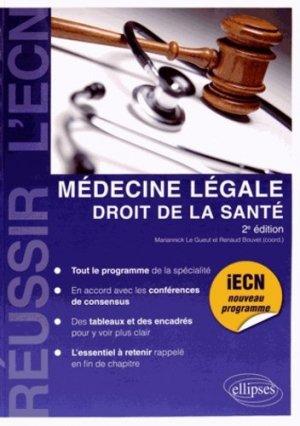 Médecine légale - Droit de la Santé - ellipses - 9782340002784 -