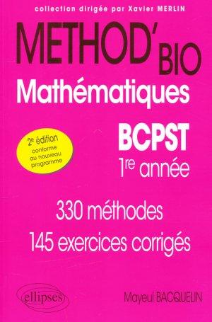 Method'bio Mathématiques BCPST  1er année - ellipses - 9782340006478 -