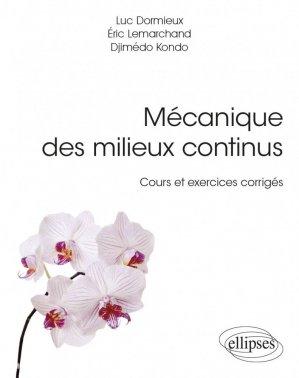 Mécanique des milieux continus - ellipses - 9782340019782