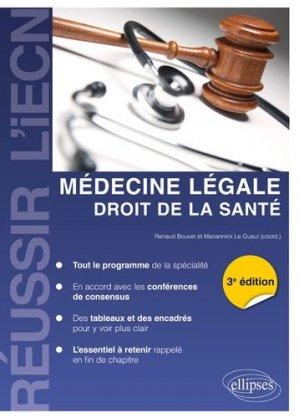 Médecine légale - Droit de la Santé - ellipses - 9782340025080 -