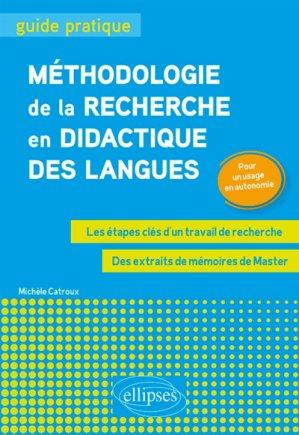 Méthodologie de la recherche en didactique des langues - ellipses - 9782340026445 -