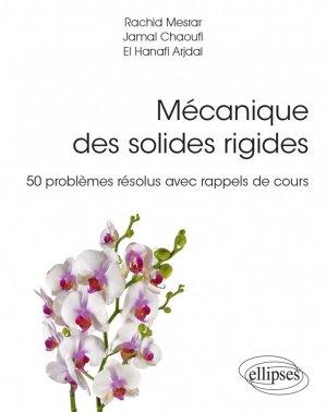 Mécanique des solides rigides - ellipses - 9782340047853 -
