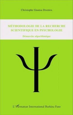 Méthodologie de la recherche scientifique en psychologie - l'harmattan - 9782343086934 -