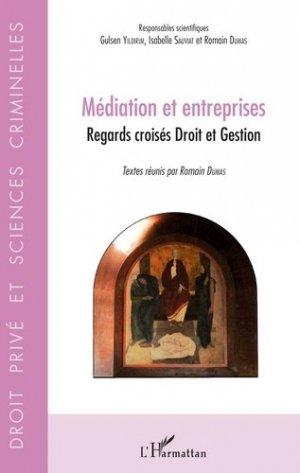 Médiation et entreprises. Regards croisés Droit et Gestion - l'harmattan - 9782343166438 -