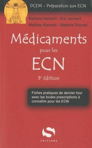 Médicaments pour les ECN - s editions - 9782356400642 -